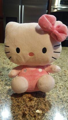 "87236f225 Hello Kitty - All Pink 8"" PLUSH TY BEANIE Hello Kitty Plush, Pink Hello"