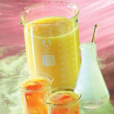 Ghoulish Citrus Punch Recipe - serve in Science Lab beakers for more fun!