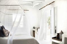 San Giorgio Mykonos Hotel in Mykonos, Greece is a luxury design hotel. San Giorgio Mykonos Hotel, between Paradise & Paraga Beach, offers stylish rooms. Mykonos Hotels, Greece Hotels, Mykonos Greece, Mykonos Resort, Design Hotel, San Giorgio Mykonos, Home Bedroom, Bedroom Decor, Outdoor Bedroom