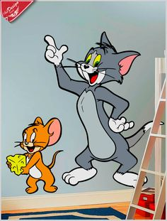 Adesivo decorativo infantil Tom & Jerry :: Decore Ideias - Adesivos Decorativos, Presentes Criativos, Papeis de parede e muito mais.