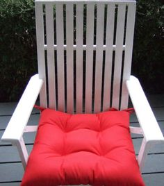 """Indoor / Outdoor 20"""" x 18"""" Square Tufted Wicker Seat Chair Patio Cushion - CHOOSE SOLID COLOR by PillowsCushionsOhMy, $29.96 Rocking Chair Cushions, Tufted Chair, Patio Cushions, Patio Chairs, Seat Cushions, Outdoor Chairs, Indoor Outdoor, Outdoor Furniture, Outdoor Decor"""