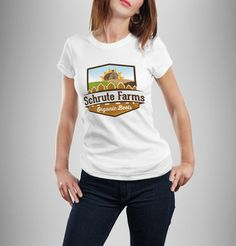 Schrute Farms - The Office / Dwight Schrute Inspired Women's T Shirt - White