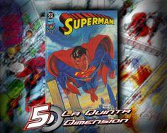 SUPERMAN # 210 DE EDITORIAL VID. REIMPRIME EL SUPERMAN MAN OF STEEL # 1 DE BOGDANOVE $ 40.00 Para más información, contáctanos en http://www.facebook.com/la5aDimension