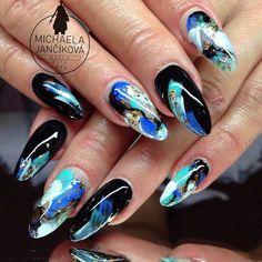 Abstract nail art..