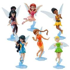 Disney Tinker Bell and the Great Fairy Rescue Figurine Play Set -- 6-Pc