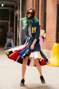 The NYFW Street-Style Looks That Truly Stunned #refinery29  http://www.refinery29.com/2014/09/73987/new-york-fashion-week-2014-street-style-photos#slide24  Another color concoction by Irene Kim.