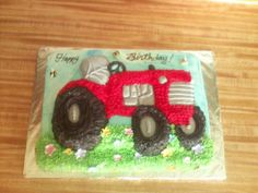 International Tractor Cake Sheet cake with Wilton' tractor cake pan. Fondant bees and flowers Tractor Birthday Cakes, Birthday Sheet Cakes, Adult Birthday Cakes, Daddy Birthday, Farm Birthday, Birthday Ideas, Fondant Bee, Fathers Day Cake, Farm Cake