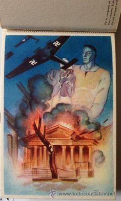 La guerra en Euzkadi, serie completa de 10 postal es de la guerra civil, originales de 1937. - Foto 1