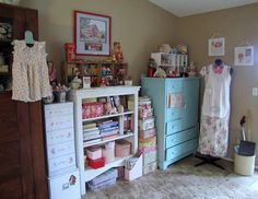 Sewing Art Studio by She'sSewPretty, via Flickr