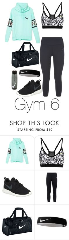"""""""Gym 6"""" by megan-walz21 ❤ liked on Polyvore featuring Victoria's Secret and NIKE"""