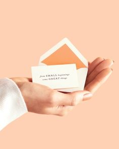 Beautiful small wedding invitations.  Love this idea for a baby shower or Christening as well.