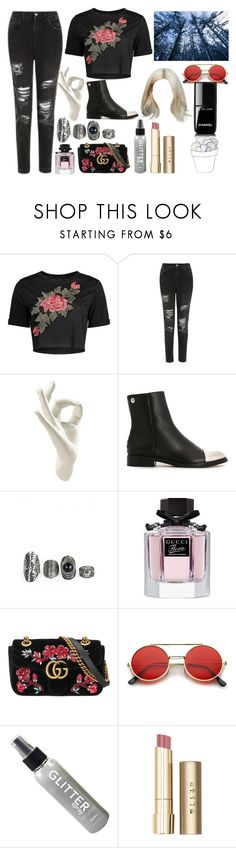 """Untitled #932"" by ikgidda ❤ liked on Polyvore featuring Topshop, Thelermont Hupton, Proenza Schouler, Gucci, ...Lost, Stila and Chanel"