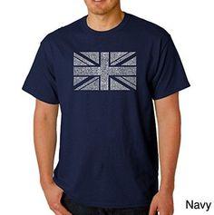 Men's Graphic Novelty T-shirt Tees American Apparel Soft Fine Cotton - Union Jack - Navy Blue - XXX-Large