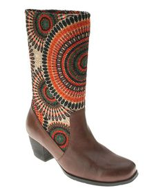 Another great find on #zulily! Brown Peru Leather Boot by L'Artiste by Spring Step #zulilyfinds