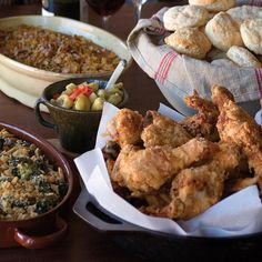 """Supercrispy Pan-Fried Chicken   Instead of deep-frying chicken in a vat of oil, Angie Mosier prefers pan-frying, which creates delightfully crunchy and moist chicken without requiring quite so much oil. """"For a covered-dish dinner, there's nothing better than a tray of drumsticks, which are easy to eat standing up,"""" she says."""