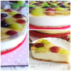 Tartas pasteles dulces y salados by MPop: Tarta de queso y uva al moscatel