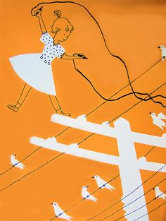 Telephone wires    From I Want To Be A Telephone Operator Carla Greene (Author), Mary Gehr (Illustrator), 1958.