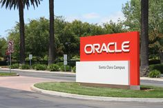 Oracle campus monument sign.