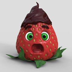 Create a Stylized Strawberry Character with ZBrush and Keyshot