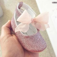 Toddler Girl Shoes Baby Girl Shoes Soft Soled Shoes Glitter Shoes Rose Pink, Gold, Champagne Shoes  - Esme by LittlePoshBebe on Etsy https://www.etsy.com/listing/474795232/toddler-girl-shoes-baby-girl-shoes-soft