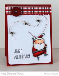 Jingle All the Way, Plaid Background Builder, Blueprints 19 Die-namics - Michele Boyer #mftstamps