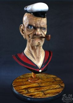 Popeye Cake for Sugar Spooks 2014 by Avalon Cakes School of Sugar Art