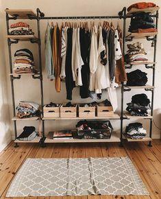 Go for realistic minimalist wardrobe Room Ideas Bedroom, Bedroom Decor, Pinterest Room Decor, Aesthetic Room Decor, Dream Apartment, Room Setup, Home Room Design, Closet Designs, Dream Rooms
