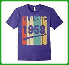Mens Classic Retro 1958 Birthday Gift Funny Tshirt For Men/Women Small Purple - Birthday shirts (*Amazon Partner-Link)