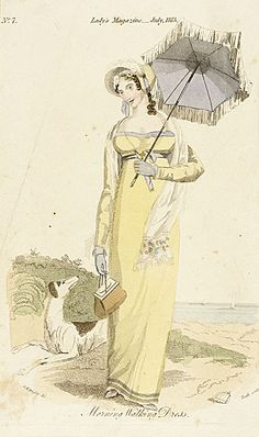 Lady's Magazine, July 1813.  Morning walking dress.