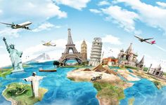 Find Travel World Monument Concept stock images in HD and millions of other royalty-free stock photos, illustrations and vectors in the Shutterstock collection. Thousands of new, high-quality pictures added every day. Canada Toronto, Travel Around The World, Around The Worlds, Flora Und Fauna, Travel Wallpaper, Wallpaper Murals, Kids Wallpaper, Landscape Wallpaper, Famous Landmarks