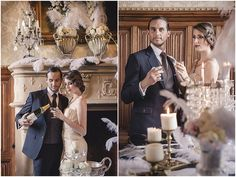 Great Gatsby wedding ideas | Venue Chateau de Challain, image by In Love Photography, see more http://www.frenchweddingstyle.com/great-gatsby-wedding-inspiration-chateau-challain/