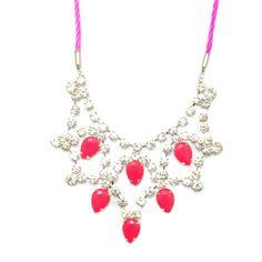 Maxi Colar Neon Rosa