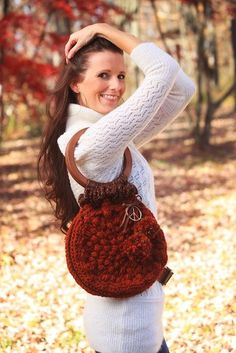 Pretty Pine Cone Purse Crochet Pattern PDF por JackieMoon en Etsy