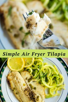 This Air Fryer Tilapia recipe requires little time and few ingredients, but it is full of taste, healthy and quick, and really a sporty and light meal for the stomach. Try to prepare it at home for a nice evening with the family. Air Fryer Tilapia Recipe, Tilapia Fish Recipes, Few Ingredients, Light Recipes, Meals, Cooking, Healthy, Simple, Skinny Recipes