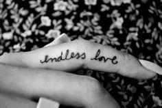 Endless love,cute ring finger tat =)