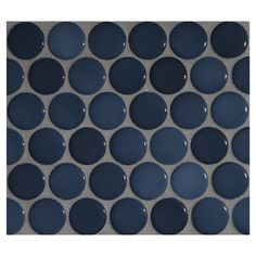"""Complete Tile Collection Penny Round Mosaic - Iron Azul - Gloss, 1"""" Round Glazed Porcelain Penny Mosaic Tile, Anti-Microbial, Anti-Odor, Anti-Staining Technology, MI#: 063-Z1-250-057, Color: Iron Azul"""