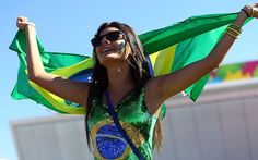 It's here: A Brazil fan arrives at the Arena Corinthians for the World Cup opener between Brazil and Croatia
