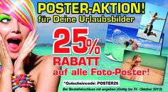 DAS WERBEPORTAL > SOCIAL-MEDIA-WERBESERVICE (Bewerbung in Facebook, Xing, Twitter, Google+, Linkedin, Pinterest und auf eBooosta) > Posting-Board: Gestalte mit Deinen Urlaubsbildern Dein Foto-Poster.25% Rabatt auf alle Foto-Poster jetzt bei Posterspass.www.posterpass.deSo einfach geht's: Gutscheincode POSTER25 am Ende der Bestellung im Gutscheinfeld eingeben und bestätigen mit der Enter-Taste und 25% Rabatt werden sofort abgezogen. Kein Mindes
