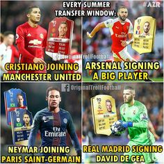 """Things You Will Find Every Transfer Window.. """