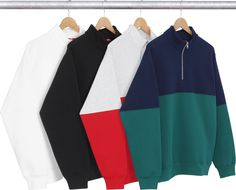 Supreme 2-Tone 3M® Reflective Half Zip Sweat