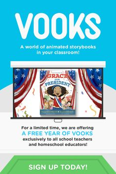 Vooks brings children's books to life with animated illustrations, read-a-long text and narrated sto Learning Websites, Educational Websites, Home Learning, Learning Resources, Teaching Tools, Teacher Resources, Classroom Resources, Reading Activities, Teaching Reading