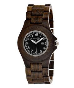 Love this Dark Brown Xylem Watch by EARTH watches on #zulily! #zulilyfinds