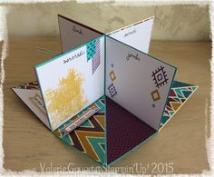 mini album   bohemian paper Stampin'Up!