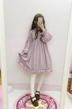 Japanese Sweet Cute Mori Girl Preppy Style Lace Puff Sleeve Preppy Style Dress # | Clothing, Shoes & Accessories, Women's Clothing, Dresses | eBay!