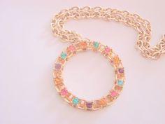 "Pretty Vintage Sarah Coventry Pendant Necklace!  Designer Signed:  ""Sarah Cov""…"