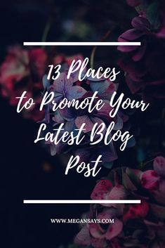 So you've written a piece of content to be proud of – now you have to make sure that people read it! As a blogger, they say that 20% of your time should be spent CREATING your content, and the other 80% should be spent PROMOTING it! I've put together a list of places that you can promote your latest blog post to gain more traffic and MAXIMUM exposure.