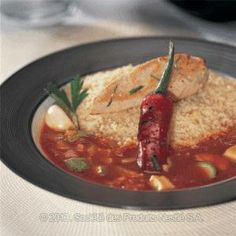 Traditional Moroccan Couscous with Chicken