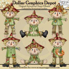 Scarecrows 1 - Clip Art