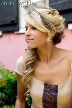 55 best Wedding hairstyles long hair images on Pinterest | Bridal ...