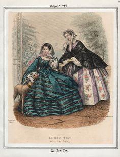 Le Bon Ton, August 1859. LAPL Visual Collections.  Civil War Era Fashion Plate